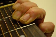 Mujer de la guitarra Foto de archivo libre de regalías