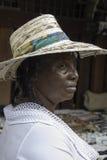 Mujer de la isla caribeña imagenes de archivo