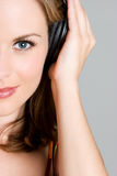 Mujer de la música Imágenes de archivo libres de regalías