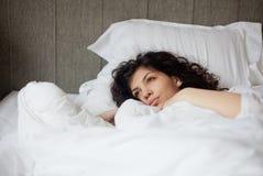 Mujer de la mañana foto de archivo