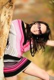 Mujer de la manera con las gafas de sol en verano Imagenes de archivo