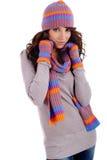 Mujer de la manera del invierno Imagen de archivo libre de regalías