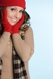 Mujer de la manera del invierno Fotografía de archivo libre de regalías
