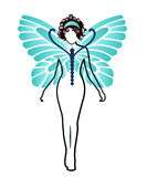 Mujer de la mariposa Fotos de archivo