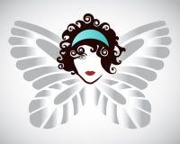 Mujer de la mariposa Fotografía de archivo