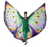 Mujer de la mariposa del baile fotos de archivo