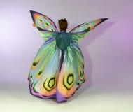 Mujer de la mariposa del baile Foto de archivo libre de regalías