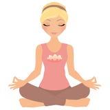 Mujer de la meditación stock de ilustración