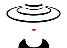 Mujer de la moda del logotipo de la tienda Compañía Logo Design Fotografía de archivo