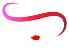 Mujer de la moda del logotipo de la tienda Diseño del logotipo de la compañía, vector aislado Imagen de archivo libre de regalías