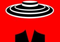 Mujer de la moda del logotipo de la tienda Fondo rojo o transparente del diseño del logotipo de la compañía Imágenes de archivo libres de regalías
