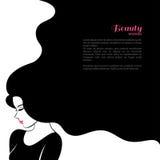 Mujer de la moda del vintage con el pelo largo Vector Imágenes de archivo libres de regalías
