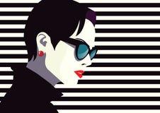 Mujer de la moda en arte pop del estilo Imagen de archivo libre de regalías