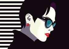 Mujer de la moda en arte pop del estilo