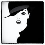 Mujer de la moda en arte pop del estilo Imágenes de archivo libres de regalías