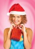 Mujer de la Navidad foto de archivo libre de regalías
