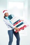 Mujer de la Navidad fotos de archivo