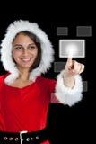 Mujer de la Navidad Foto de archivo