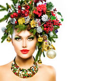 Mujer de la Navidad Fotografía de archivo libre de regalías