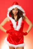 Mujer de la Navidad imagen de archivo