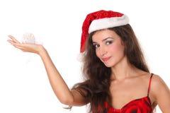 Mujer de la Navidad o del Año Nuevo Imagen de archivo
