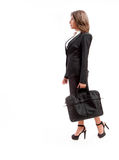 Mujer de la oficina con la cartera Imagen de archivo