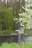 Mujer de la pesca Fotografía de archivo libre de regalías