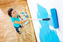 Mujer de la pintura imágenes de archivo libres de regalías