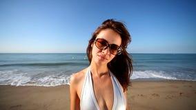 Mujer de la playa almacen de video