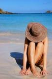 Mujer de la playa Foto de archivo libre de regalías