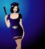 Mujer de la policía Stock de ilustración