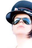 Mujer de la policía foto de archivo