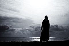 Mujer de la silueta Foto de archivo libre de regalías