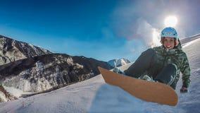 Mujer de la snowboard Imagen de archivo