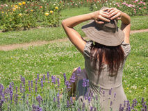 Mujer de la sol Fotografía de archivo libre de regalías