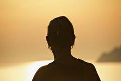 Mujer de la sol Imagenes de archivo