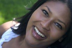 Mujer de la sonrisa fotos de archivo