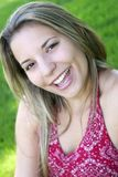 Mujer de la sonrisa Fotografía de archivo