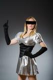 Mujer de la tecnología en futurista Imagen de archivo