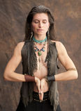 Mujer de la tierra Foto de archivo