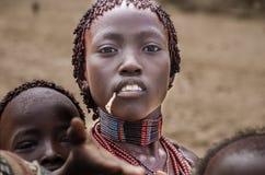 Mujer de la tribu de Hamer Fotografía de archivo libre de regalías