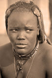 mujer de la tribu de Himba Imagen de archivo