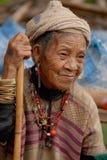 Mujer de la tribu de la colina Foto de archivo libre de regalías
