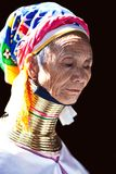 Mujer de la tribu de Padaung Imágenes de archivo libres de regalías