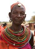 Mujer de la tribu de Rendile en África Foto de archivo