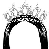 Mujer de la web con la corona ilustración del vector