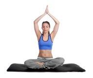 Mujer de la yoga imagenes de archivo