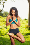 Mujer de la yoga Fotografía de archivo libre de regalías
