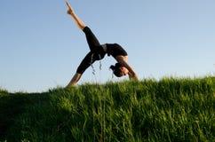 Mujer de la yoga. Fotografía de archivo