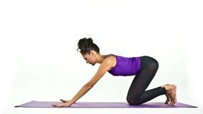 Mujer de la yoga almacen de video